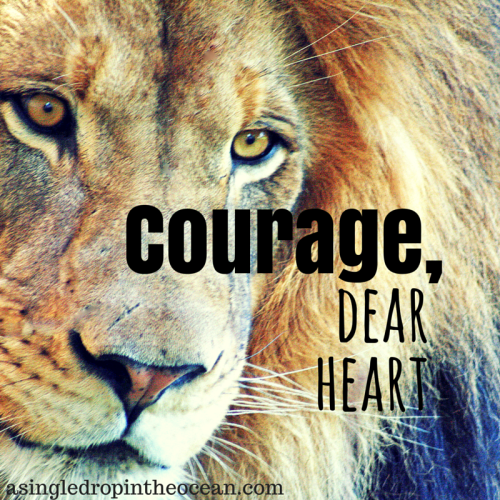 Courage Dear Heart by Laura at A Drop in the Ocean